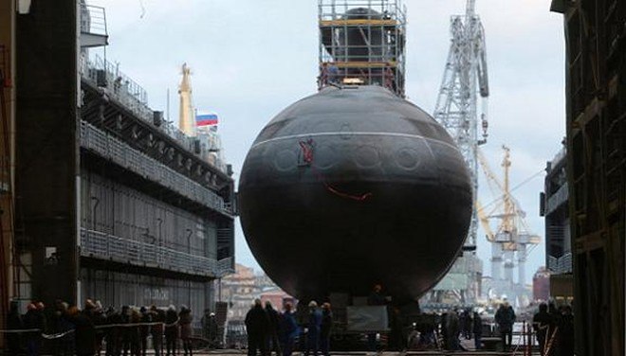 Tàu ngầm Kilo HQ-185 Đà Nẵng thử nghiệm cấp nhà máy ảnh 1