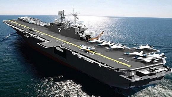 Tàu đổ bộ tấn công số 1 thế giới LHA-6 America gia nhập hải quân Mỹ ảnh 1