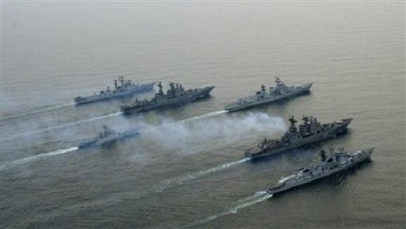 Nga - Ấn tổ chức tập trận chung hải quân trên biển Nhật Bản ảnh 1