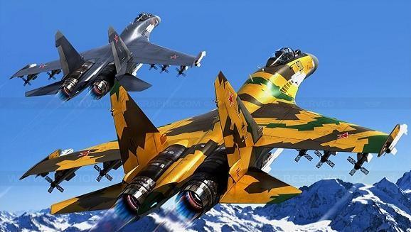 Su-35 bay trình diễn chào mừng ngày thành lập Không quân Nga ảnh 1