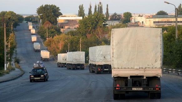 Ukraine yêu cầu Nga chấm dứt gửi đoàn xe viện trợ sang miền đông ảnh 1