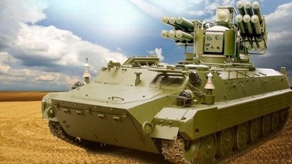 Hệ thống phòng không Sosna được lắp đặt trên xe thiết giáp