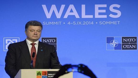 Tổng thống Ukraine Petro Poroshenko phát biểu tại Hội nghị thượng đỉnh NATO vừa diễn ra tại Wales
