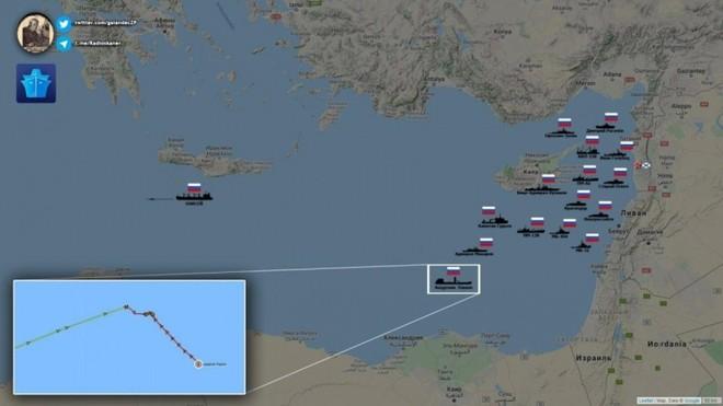 Ít nhất 15 tàu chiến Nga đậu ngoài khơi Syria sẵn sàng tham chiến? ảnh 1