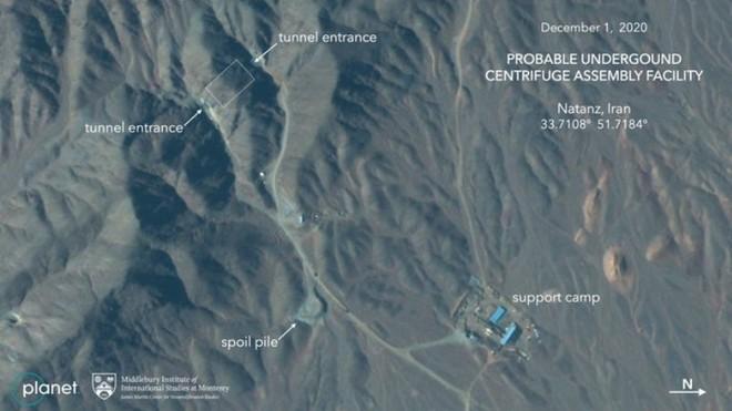 Ảnh vệ tinh tiết lộ Iran xây dựng lại địa điểm hạt nhân dưới lòng đất ảnh 1