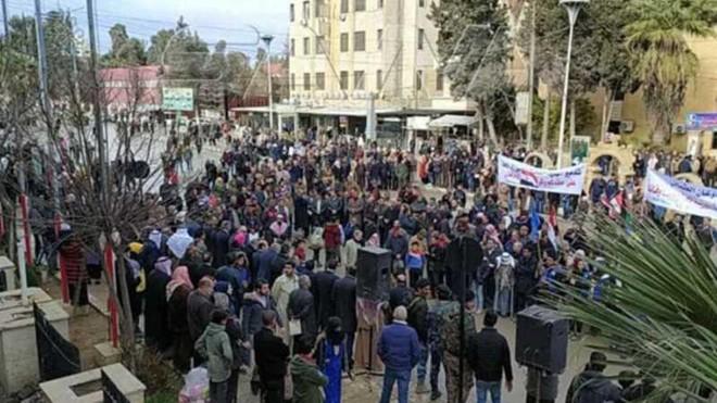 Syria: Biểu tình lớn ở Al-Hasakah sau khi các lực lượng thân Thổ ngừng cấp nước ảnh 1