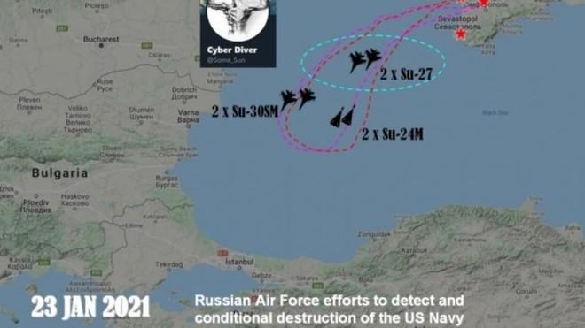 Sáu chiến đấu cơ Nga tập trận dội bom tàu khu trục Mỹ tiến vào Biển Đen ảnh 1
