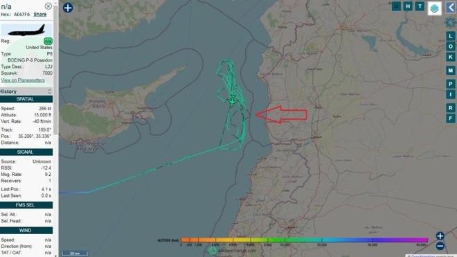 Máy bay chống ngầm Mỹ đe dọa tàu chiến Nga ở Địa Trung Hải ảnh 1