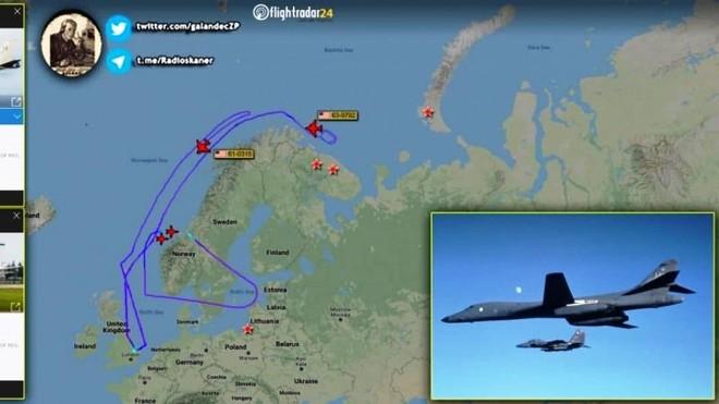 Máy bay B-1B Lancer Mỹ thực hiện tấn công mô phỏng gần biên giới Nga ảnh 1