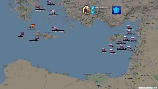Hạm đội Nga tập hợp ngoài khơi bờ biển Syria, sẵn sàng tấn công diệt phiến quân? ảnh 1