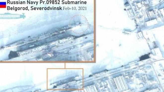 """Vệ tinh Mỹ phát hiện tàu ngầm hạt nhân mang """"vũ khí ngày tận thế"""" của Nga ảnh 1"""