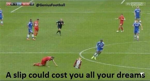 Cười ra nước mắt với ảnh chế Liverpool trượt ngã trước Chelsea ảnh 1