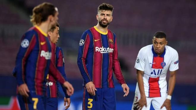 Hai sao Barca chửi nhau trong trận thua thảm PSG ảnh 1