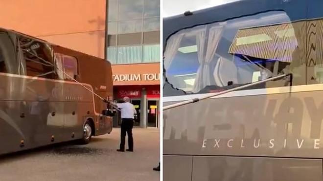 Xe bus của Real Madrid bị fan cuồng Liverpool tấn công ảnh 1