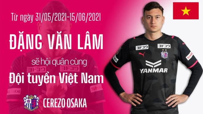 Cerezo Osaka chúc mừng Đặng Văn Lâm lên tuyển Việt Nam ảnh 1
