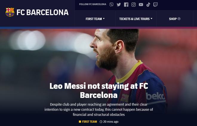 Messi từ chối ở lại, Barca chấp nhận mất trắng ảnh 1