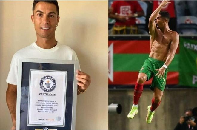 Ronaldo sở hữu 10 kỷ lục Guinness ảnh 1