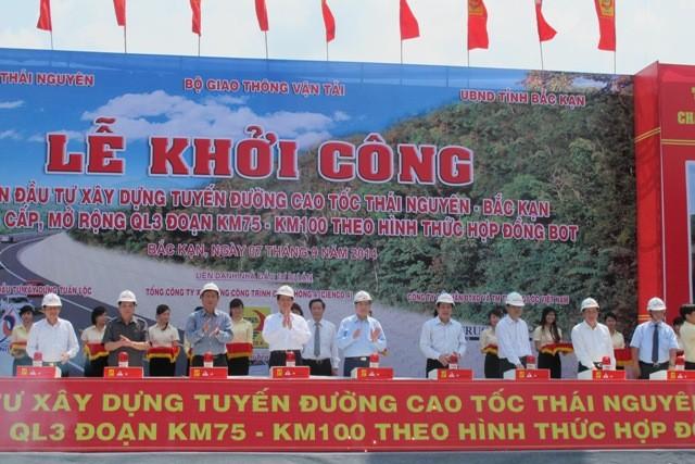 Thủ tướng phát lệnh khởi công cao tốc Thái Nguyên- Bắc Kạn ảnh 1