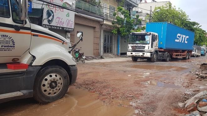 Quốc lộ 181 Keo - Sủi: Đường thành sông, nhà thầu thi công vẫn lừng khừng ảnh 1