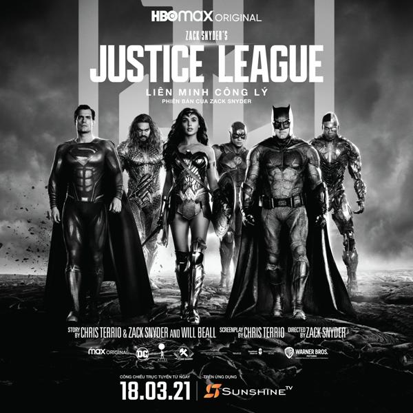"""Zack Snyder's Justice League"""", công chiếu trên Sunshine TV trở thành phim bom tấn đáng xem nhất ở Việt Nam? ảnh 1"""