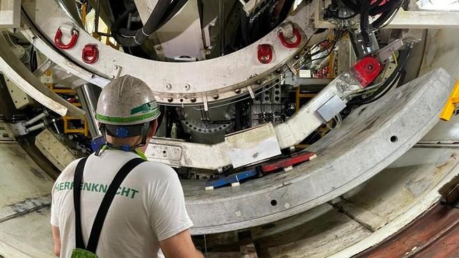 Chạy thử nghiệm robot đào hầm TBM đường sắt đô thị Nhổn- Ga Hà Nội ảnh 3