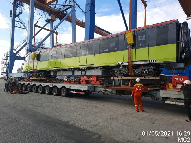 Sự cố tàu Ever Given mắc kẹt làm đoàn tàu Metro Nhổn - Ga Hà Nội về nước chậm nửa tháng ảnh 2