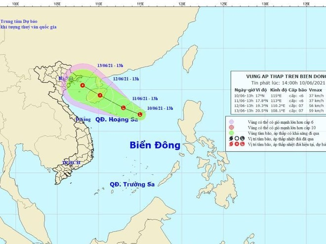 Biển Đông sắp đón áp thấp nhiệt đới, hướng thẳng Vịnh Bắc bộ ảnh 1