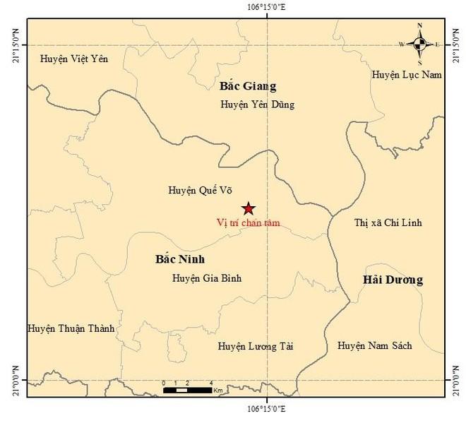 Bắc Ninh ghi nhận động đất 3 độ Richter ảnh 1