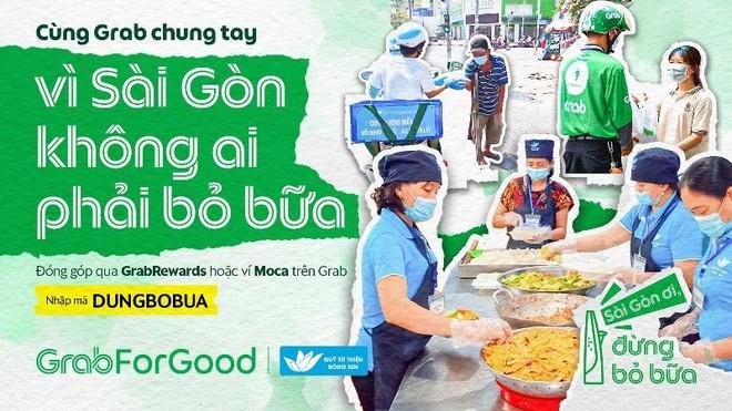 Grab Việt Nam mang bữa ăn miễn phí đến với người khó khăn trong dịch Covid-19 ảnh 1