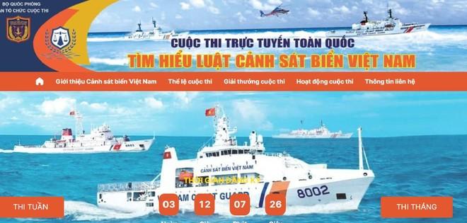 """Ra mắt giao diện cuộc thi trực tuyến toàn quốc """"Tìm hiểu Luật Cảnh sát biển Việt Nam"""" ảnh 1"""