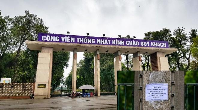 Hà Nội: Công viên lớn trên địa bàn chưa mở cửa từ sáng mai, 28-9 ảnh 1