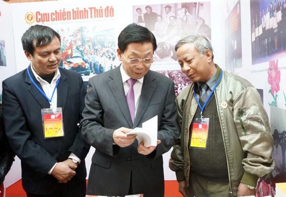 Chủ tịch UBND TP Hà Nội thăm và chúc mừng Hội Báo xuân 2014 ảnh 4