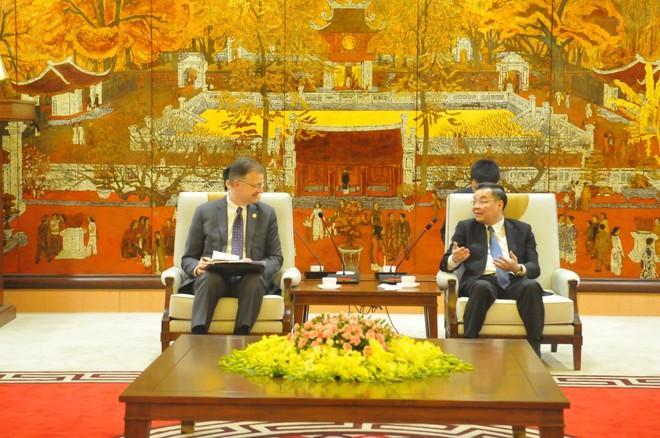 Chủ tịch UBND TP Hà Nội tiếp Đại sứ Hoa Kỳ tại Việt Nam ảnh 1