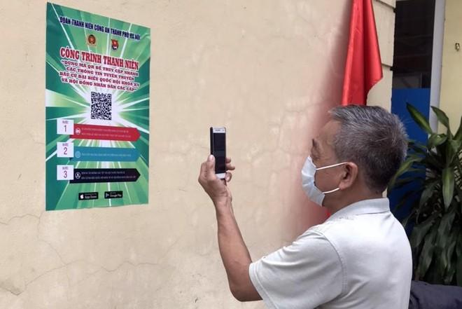 Hiệu quả thiết thực từ hơn 1.000 điểm quét mã QR để tuyên truyền bầu cử của Thanh niên Công an Thủ đô ảnh 2