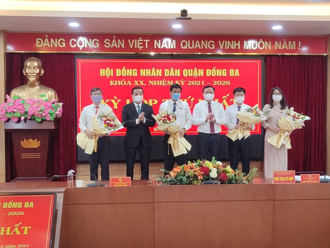Ông Lê Tuấn Định được bầu giữ chức Chủ tịch UBND quận Đống Đa nhiệm kỳ 2021-2026 ảnh 1