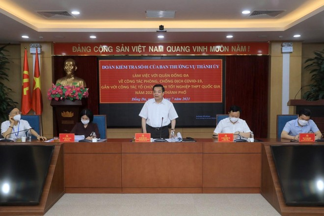 """Chủ tịch Hà Nội: Mọi công tác phải gắn với yêu cầu """"tuyệt đối"""", đảm bảo phòng dịch cho kỳ thi tốt nghiệp THPT ảnh 2"""