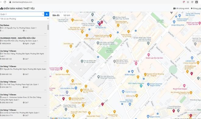 Quen nhau qua mạng thời Covid-19, 2 bạn trẻ 9x quyết làm bản đồ điểm bán hàng thiết yếu phục vụ nhân dân TP.HCM ảnh 1