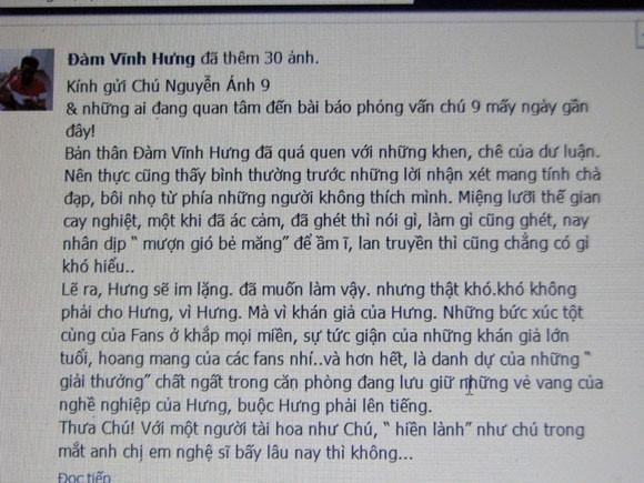 Đàm Vĩnh Hưng gửi tâm thư cho nhạc sĩ Nguyễn Ánh ảnh 2