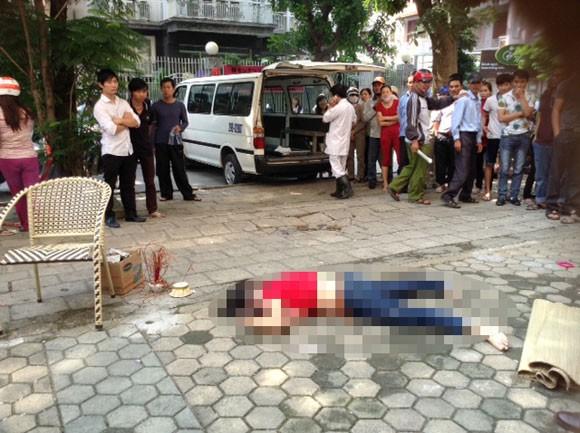 Một phụ nữ tử vong do nhảy lầu tự tử ảnh 1