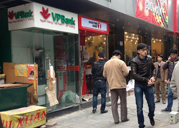 Hà Nội: Một cây ATM bị phá tung ảnh 1