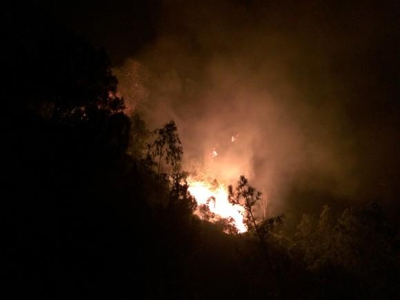 70 ha rừng thông bị thiêu rụi, 2 đồng chí bộ đội bị thương ảnh 2