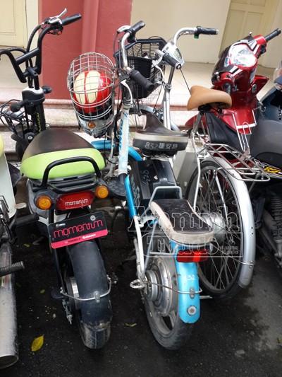 Tóm gọn tên trộm xe đạp điện đang trên đường tẩu thoát ảnh 2