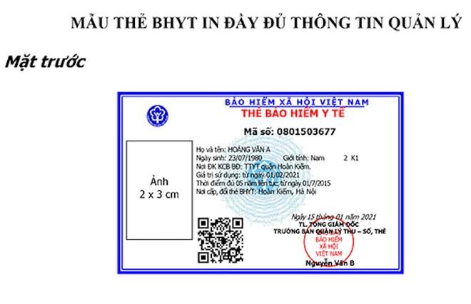 Ban hành mẫu thẻ BHYT mới, sử dụng thống nhất trên cả nước từ 1/4/2021 ảnh 1