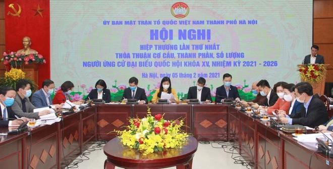 Hà Nội giới thiệu 45 người để bầu 29 đại biểu Quốc hội khóa XV ảnh 1