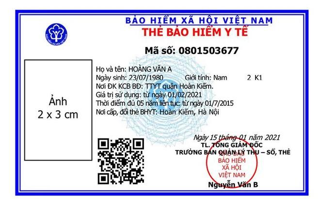 Chính thức sử dụng thẻ bảo hiểm y tế mẫu mới trên toàn quốc ảnh 1