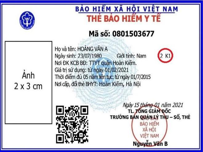 Hướng dẫn cách đọc mã số để biết mức hưởng trên thẻ bảo hiểm y tế mẫu mới ảnh 1