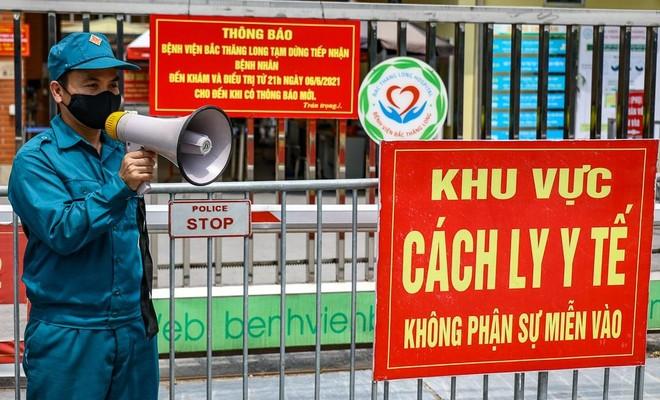 Hà Nội: Phong toả bệnh viện Bắc Thăng Long do liên quan ca COVID-19 mới ảnh 1