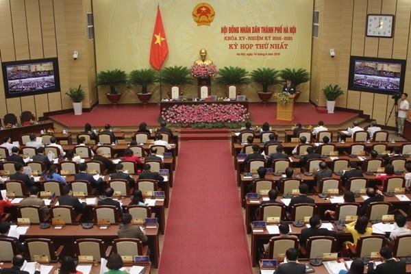 Hà Nội sẽ bầu Chủ tịch HĐND TP, Chủ tịch UBND TP tại kỳ họp thứ nhất, HĐND TP khoá XVI ảnh 1