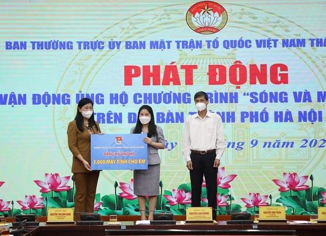 """Hà Nội: Tiếp nhận hơn 118 tỷ đồng chống dịch; phát động ủng hộ chương trình """"Sóng và máy tính cho em"""" ảnh 1"""