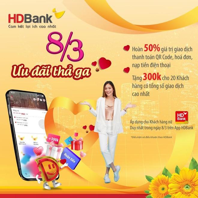 HDBank ưu đãi hàng loạt dịch vụ, quà tặng đến khách hàng dịp 8/3 ảnh 1